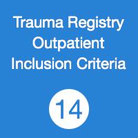 TR14 registry Outpatient Inclusion Criteria